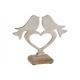 Espositore uccello su cuore in metallo su mango