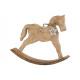 Cavallo a dondolo in legno di mango con pendente a