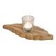 Lanterne di vetro su legno di mango marrone foglia