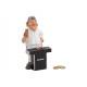 Money Box Grill Master in Poly, bianco / nero (B /