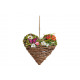 Hanger heart with butterfly, colorful flowers (B /