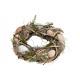 Corona di Pasqua in legno, decorazioni in plastica
