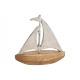 Fém vitorlás hajó, mangó fa ezüst, barna (B / H /