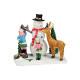 Miniatűr hóember gyerekekkel poli, B7 x T5
