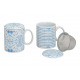 Tè in porcellana bianca con coperchio Met