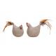Pollo, cazzo con coda di piume in Poly Brown 2 vol