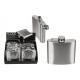 Fiaschetta per ca 140ml in metallo argento (L / H)