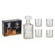 Set di 5 set di Whisky in vetro, bottiglia da 900