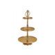 Rack di stoccaggio in metallo a 3 livelli Gold (H)