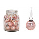 Ciondolo palla di vetro rosa (B / H / D) 5x5x5cm 2