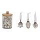 Hängare i glas silver 3- times assorted , (W / H)