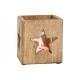 Dekor z gwiazdą z drewna wiatraka, brąz szklany (B