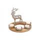 Ghirlanda natalizia a forma di cervo in metallo ma