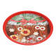piatti Christmas Cookies Metal Decor Multicolore (
