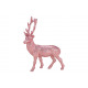 Deer with Glitter Plastic Pink / Pink (B / H / D