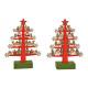Tree with LED lighting Christmas theme of wood