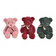 Orso in peluche rosa / rosa, verde, rosso tipo 3 v