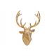 Testa di cervo per appendere oro poli (B / H / D)