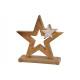 Stella Espositore in legno di mango, con stella in