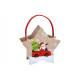 Filckosár csillag Santa Claus díszítéssel, F fogan