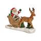 Babbo Natale su una slitta in poli colorato (B / H