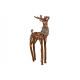 Cervo in legno, ecopelliccia marrone (B / H / D) 2