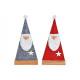 Babbo Natale fatto di feltro rosso, grigio 2- volt