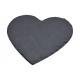 Slate Heart Black (B / H) 20x20cm