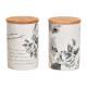 Latta di stoccaggio con bambù fiori decorazione co