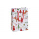 Sacchetto regalo alce Buon Natale fatto di carta /