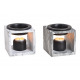 Aroma lamp marble look in ceramic Gray, black 2