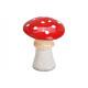 Fungo in ceramica rosso, bianco (B / H / D) 9x12x9