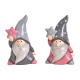 Babbo Natale con stella in ceramica rosa / rosa, g
