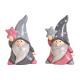 Nikolaus mit Stern aus Keramik Pink/Rosa, grau 2-f
