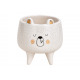 Orso ciotola in ceramica bianco, oro (B / H / D) 8