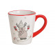 Tazza Elk Decor in ceramica bianca (B / H / D) 12x