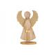 Ángel con alas metálicas de madera marrón, dorado