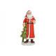 Babbo Natale in poli rosso (B / H / D) 11x25x8cm