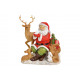 Scena di Babbo Natale con animali fatti di poly (B
