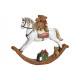 Cavallo a dondolo in Poly White (B / H / D) 21x17x