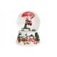 Carillon Snow Globe Paracadute Babbo Natale in Pol