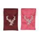 Sacchetto regalo decorazione testa di cervo vellut