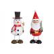 Święty Mikołaj / bałwanek z metalu Kolorowo posort