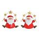 Babbo Natale in metallo rosso 2- volte assortito ,