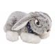 Coniglio giacente in peluche grigio (L / A / P) 25