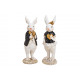 Bunny man and woman made of poly white / black dou