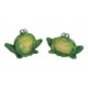 Frog lucido verde ceramica 2- volte assortito .