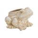 Vaso di fiori Frog white clay (B / H / D) 18x12x14