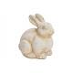 Coniglietto fatto di argilla bianca (B / H / D) 17