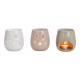 Fragrance lamp heart decor made of ceramic white,